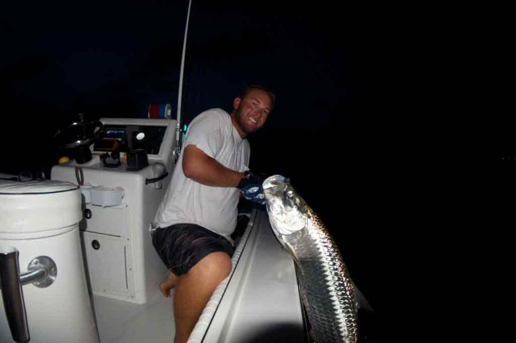 Night tarpon fishing with Capt. Kyle
