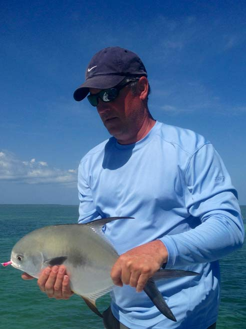 Permit caught on the flats in Key West