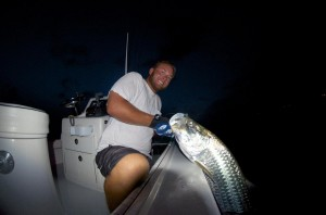 Night time tarpon fishing in Key West