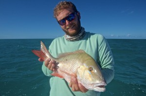 Mutton snapper caught on a shallow wreck