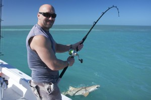 Thumbs up to lemon shark fishing